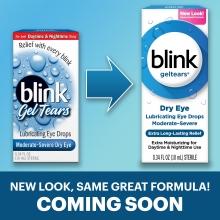 blink drops, eye drops, lubricating eye drops, dry eye drops, eye care, geltears