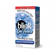 blink drops, eye drops, lubricating eye drops, dry eye drops, eye care, geltears