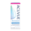 ACUVUE® RevitaLens Multi-Purpose Disinfecting Contact Solution package, bottle and product summary.