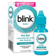 Blink® Tears Lubricating Eye Drop package and product summary.