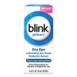 Blink GelTears® Lubricating Eye Drop package and product summary.